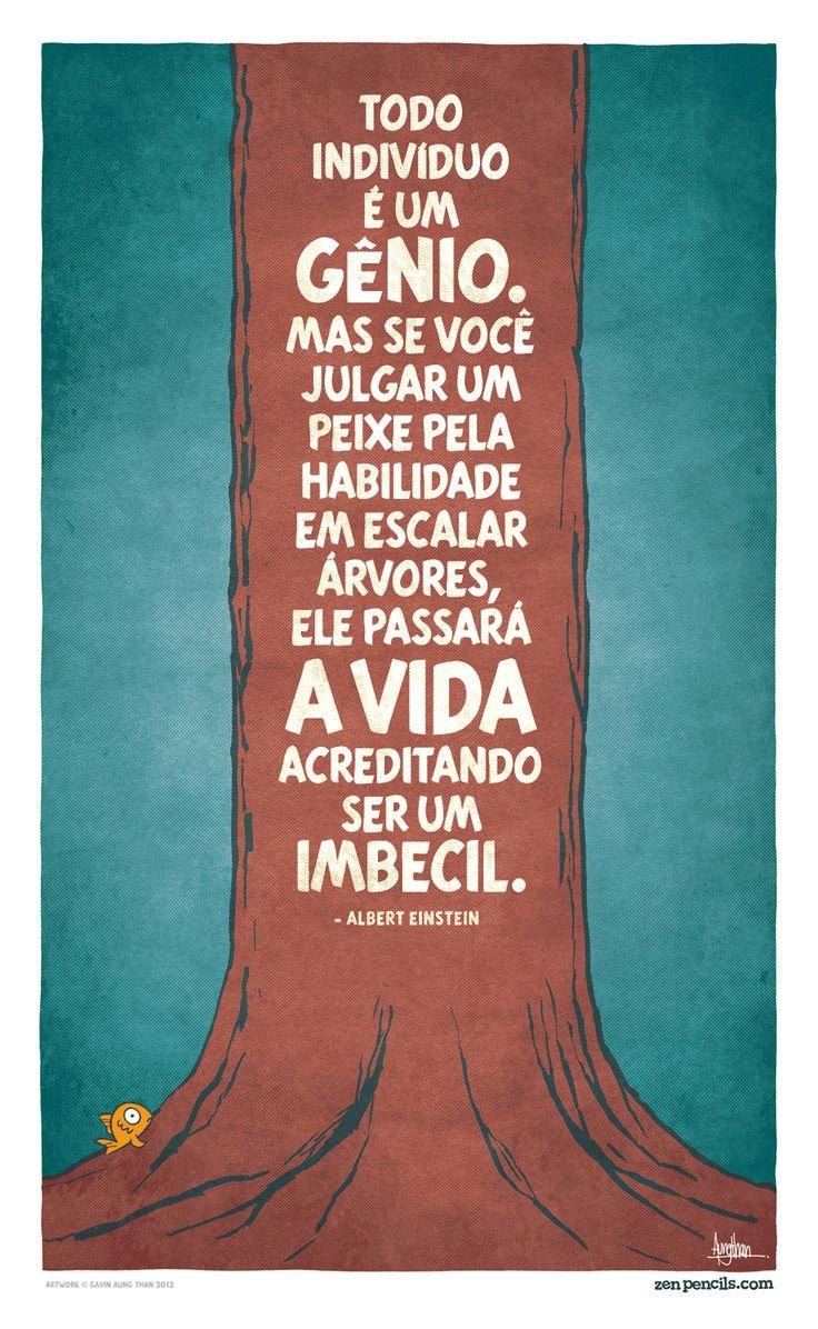 ALBERT EINSTEIN: Todo indivíduo é um gênio