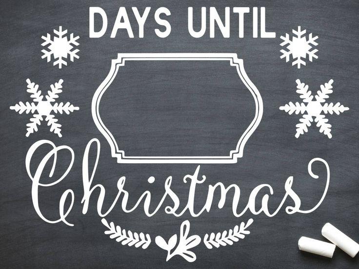 christmas svg, days until christmas svg, countdown, days