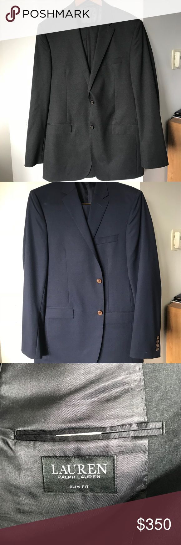 Ralph Lauren Slim-Fit Jacket and Dress Pants Lauren Ralph Lauren Navy Solid Total Stretch Slim-Fit Jacket and Dress Pants. Worn once or twice, looks brand new. Jacket: 42L Pants: 36W/34L. Willing to do both for $300 or separately jacket for $250 and pants for $100. Lauren Ralph Lauren Suits & Blazers Suits