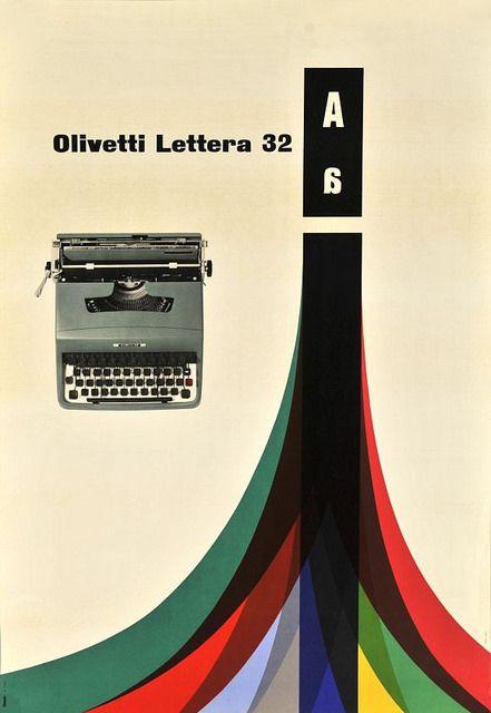 Olivetti Lettera 32 Poster | Flickr - Photo Sharing!