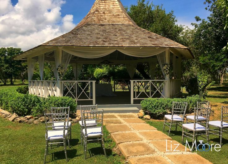 Jamaica Wedding Gazebos #jamaica #weddinggazebos #weddingideas #weddingceremony #melia #gardengazebo