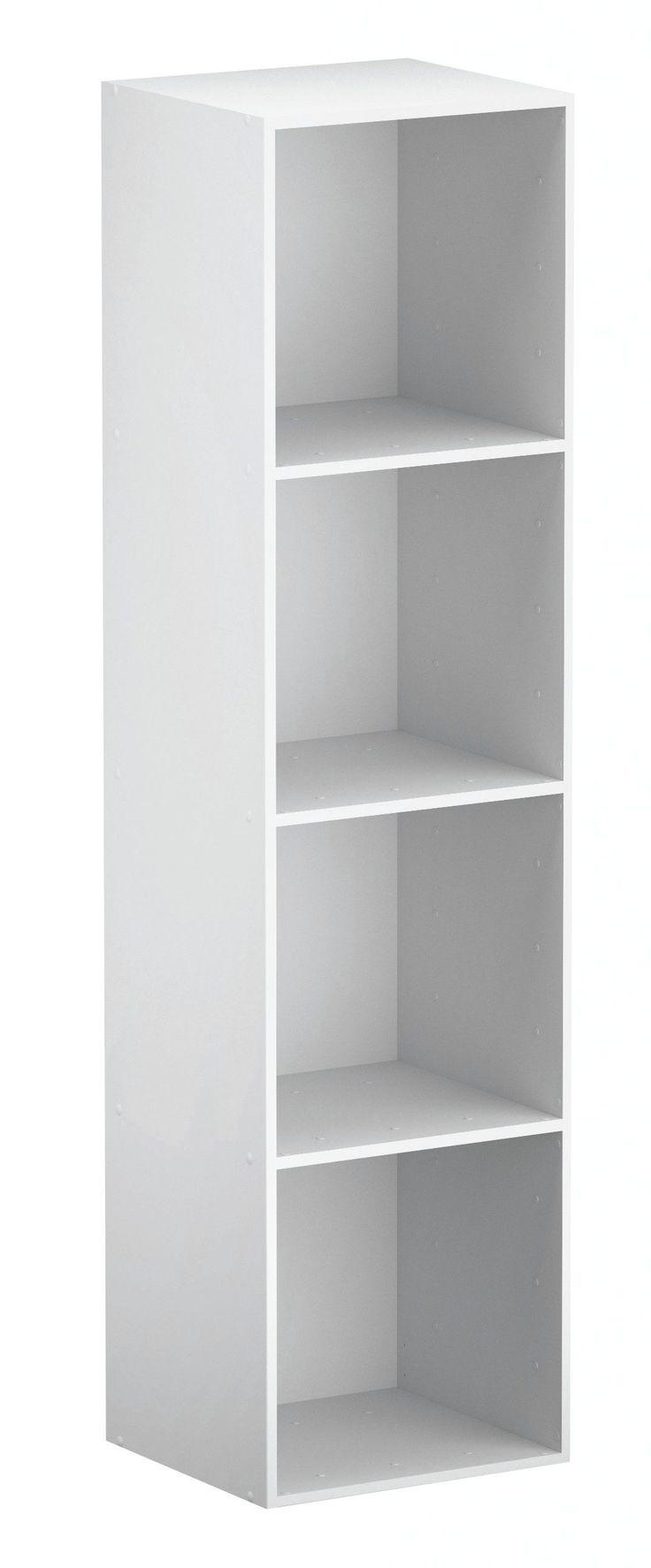 Form Konnect White 4 Cube Shelving Unit (H)1372mm (W)352mm | Departments | DIY at B&Q
