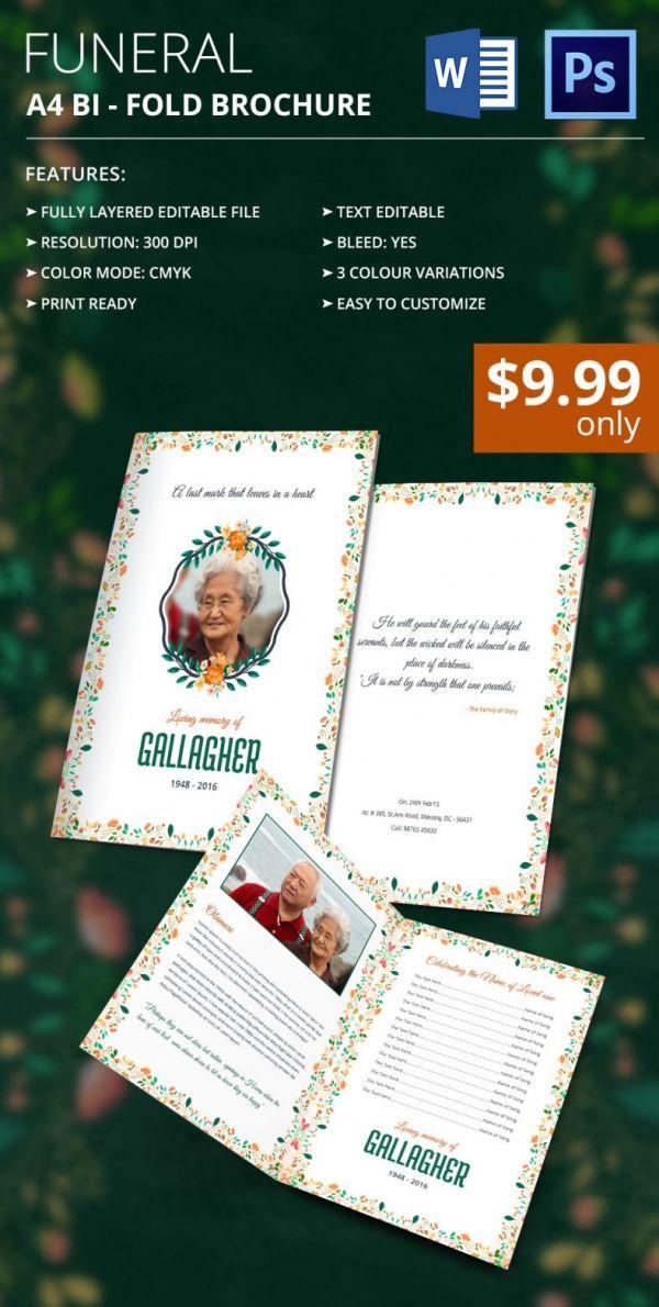 31  funeral program templates  u2013 free word  pdf  psd