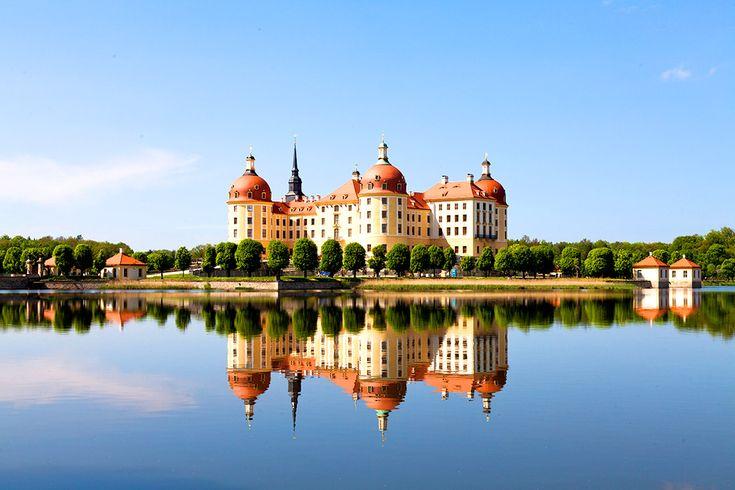 Slottet Moritzburg i Tyskland #moritzburg #slott #castle #tyskland #germany