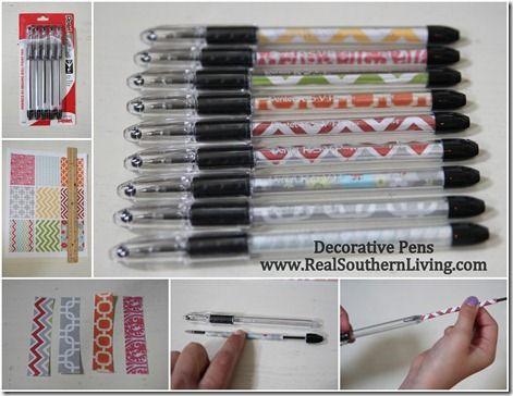 DIY Decorative Pens