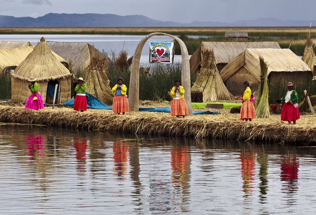 Lake Titicaca, Peru. This is an incredible place: the highest lake in the world where these native people build the floating islands.