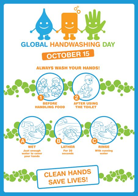 George's Corner of Health and Laughter: GLOBAL HANDWASHING DAY 15 OCT