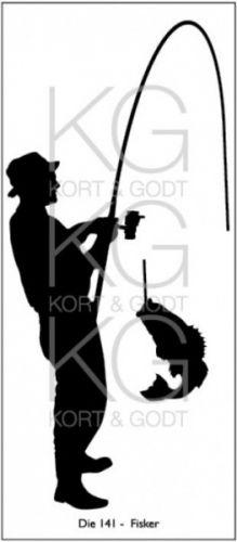 KORT&GODT+-+DIE141+-+FISKER Diesen+kan+brukes+i+de+fleste+kuttemaskiner+som+Sizzix+Big+Shot,+Cuttlebug,+Grand+Calibur+osv. Mål+ca.+145x67mm.