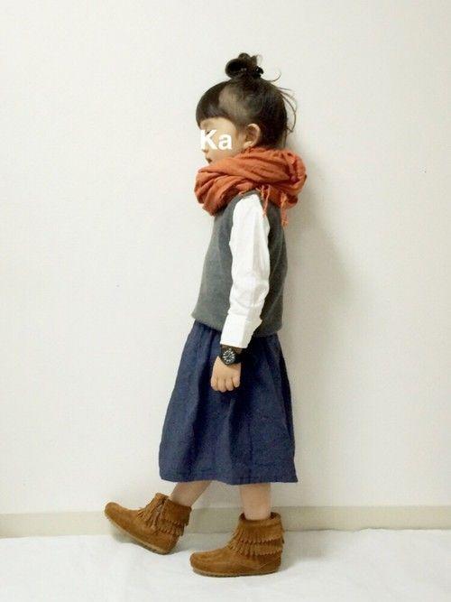 SHIPS KIDSのブーツ「MINNETONKA:ダブルフリンジ サイドジップ(kids)」を使ったkannn ⁂のコーディネートです。WEARはモデル・俳優・ショップスタッフなどの着こなしをチェックできるファッションコーディネートサイトです。