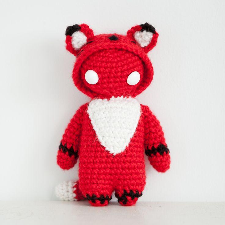 Amigurumi Crochet Red Fox Kigurumi, from Gang Beasts! thebhivecreations.com