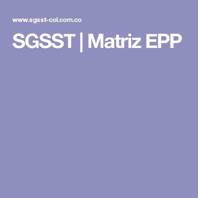 SGSST | Matriz EPP