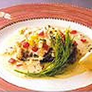太刀魚のムニエル レモン風味 - 魚介 - レストラン -商品レシピ- | マリンフード株式会社
