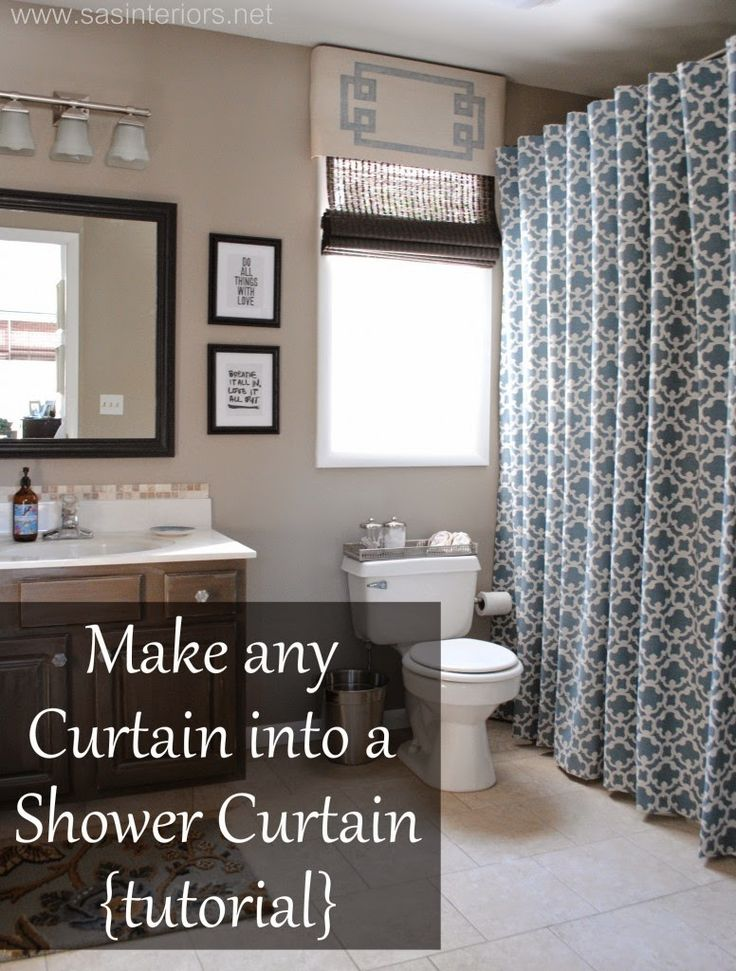 HOME & GARDEN: DIY : Comment transformer n'importe quel rideau en rideau de douche !