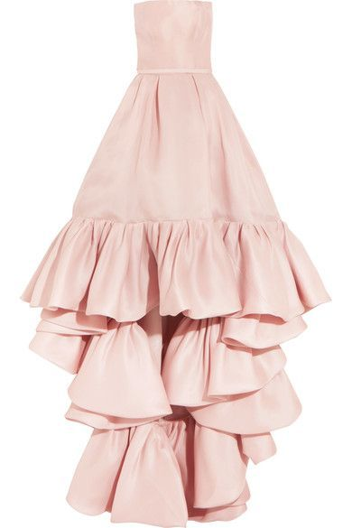 Pastel-pink silk-crepe Concealed zip fastening along back 100% silk Dry cleanSmall to size. See Size & Fit notes.
