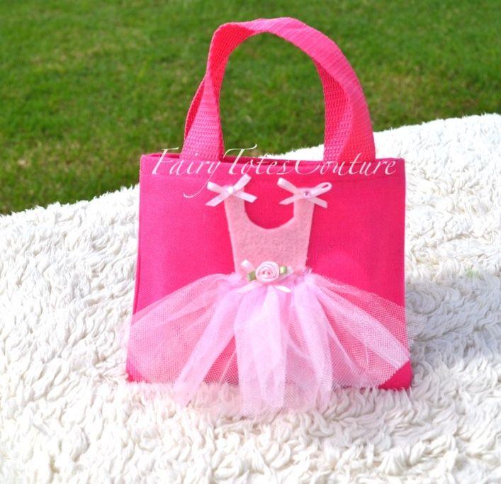 Ballerina Tutu Tote - Mini Size - Ballerina Gift Bag - Ballerina Party Favor - Ballerina Party