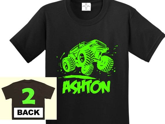 Hey, I found this really awesome Etsy listing at https://www.etsy.com/listing/220846756/monster-truck-birthday-shirt