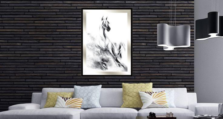 NOWOCZESNE OBRAZY KONI - Nowoczesne obrazy do salonu, obrazy na płótnie