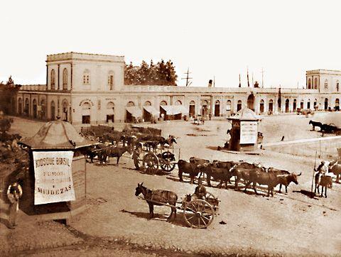 Uma das fotos mais antigas do Mercado em sua fase inicial