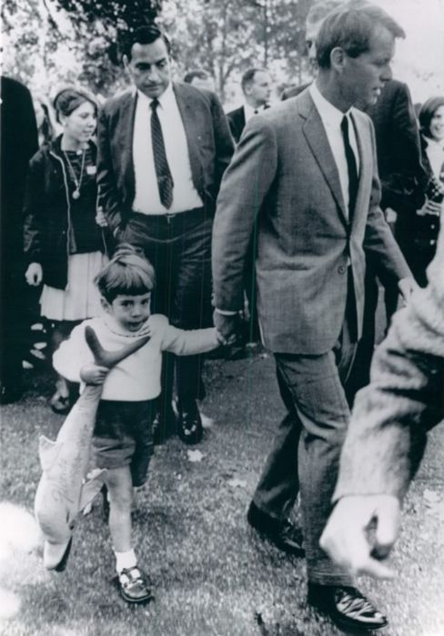 Bobby with John Kennedy Jr