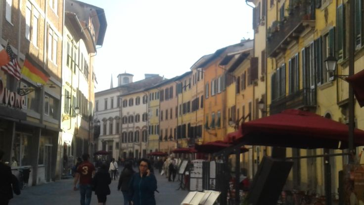 Houses in Pisa street Italy