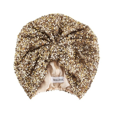 gold sequin turban. Need one of these. Gonna try and make one!