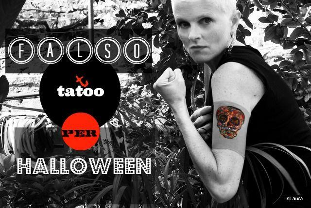 Falso tattoo per Halloween con riciclo calze di nylon