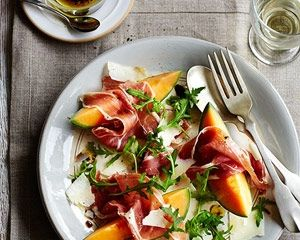 James Martin's melon, prosciutto and pecorino salad is a simple starter recipe that takes just 10 minutes to prepare