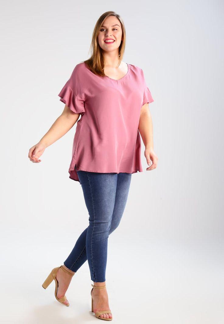 ¡Cómpralo ya!. Zizzi Blusa rose. Zizzi Blusa rose Ofertas   | Material exterior: 75% viscosa, 25% poliéster | Ofertas ¡Haz tu pedido   y disfruta de gastos de enví-o gratuitos! , blusas, blusa, blusón, blusones, blouses, blouse, smock, blouson, peasanttop, blusen, blusas, chemisiers, bluse. Blusas  de mujer color rosa de Zizzi.