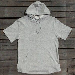BAIT Men Premium Short Sleeve Hoody - Made In Los Angeles (gray / heather)