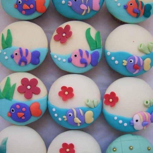Cupcake Decorating Ideas Using Fondant : Cute Food, Cute Cupcakes, Designer Cakes, Cupcakes ...