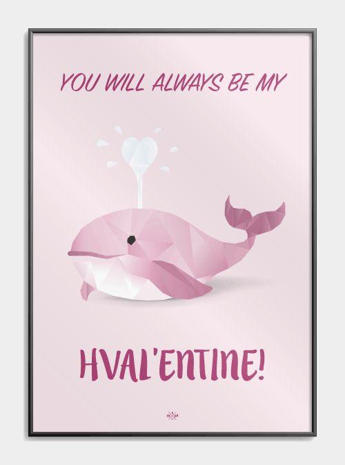 Valentines Day plakaten er lige gaven til kæresten på jeres romatiske dag. Den kan fås lige i lyserød og blå. Tjek dem ud lige her!