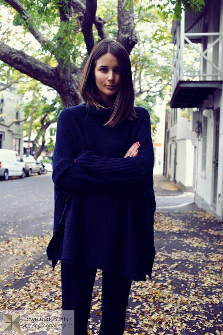 Black Sweater and Black Leggings