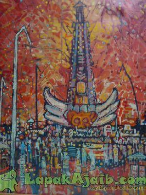 Lukisan `PURA BALI` Karya Original Tamrin