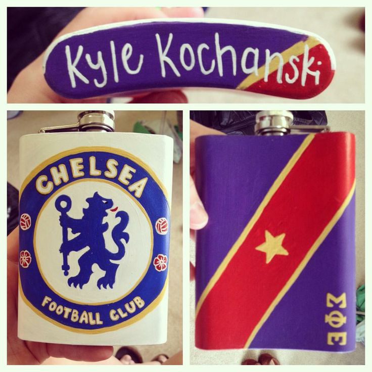 Sigma Phi Epsilon / SigEp and Chelsea Soccer / Football Flask