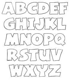moldes de letras en foami - Buscar con Google