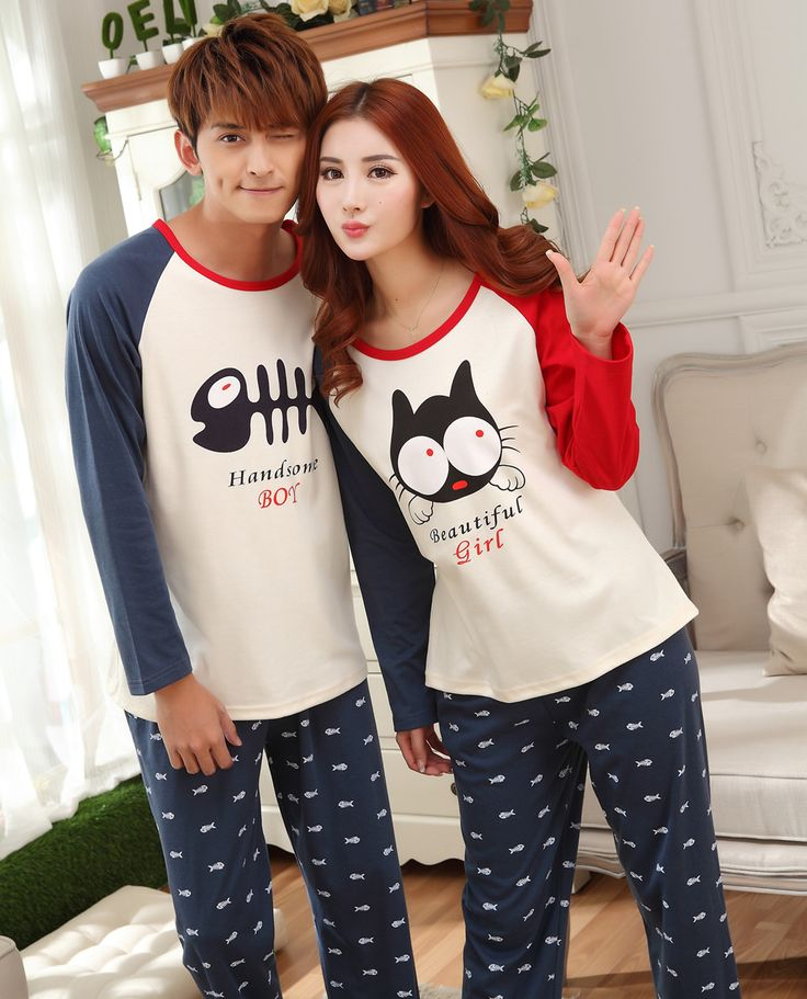 Cotton Couple Winter Pajama Set