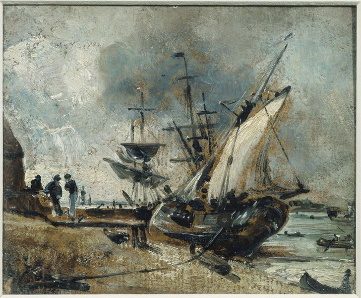 Shipping in the Orwell, near Ipswich, John Constable, about 1806