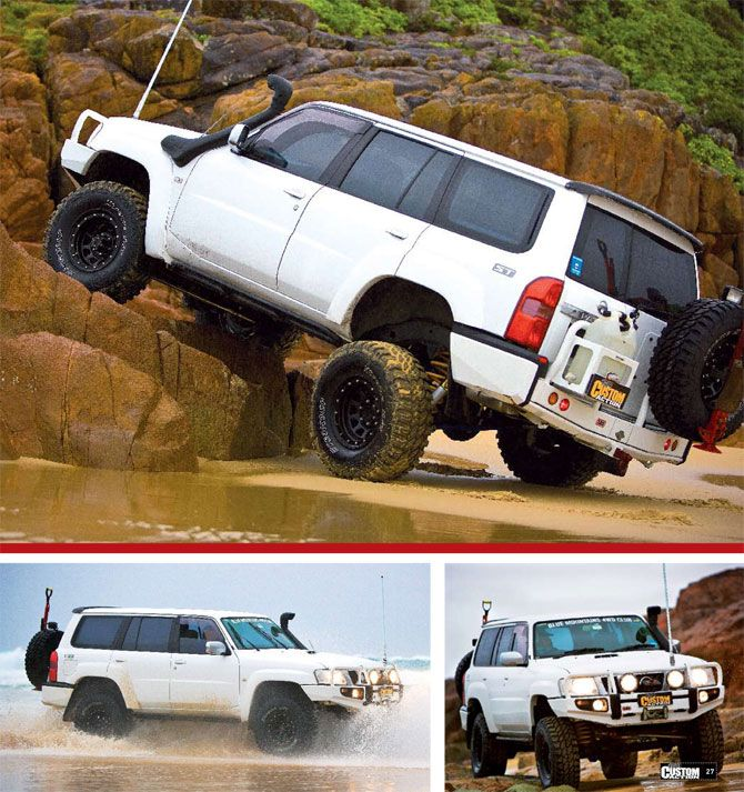Nissan GU Patrol 'White Lightning' 4WD Custom Action Article - Snake Racing | 4x4 Accessories, Suspension Kits and 4x4 Parts