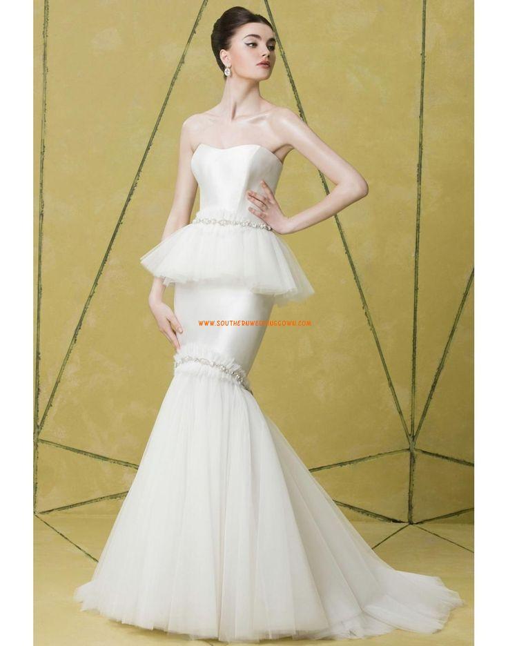 Elégant & Luxueux Sans manches Décolleté dans le dos Robes de mariée 2014