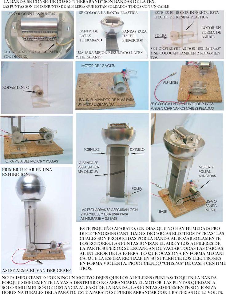Como hacer un generador de van der graaf casero - Mini generador electrico ...