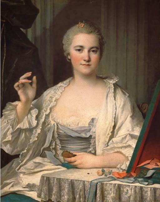 La Mouche, A Lady at Her Toilet by Louis Tocque