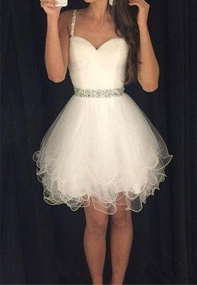 Short Charming Homecoming Dress, Organza Homecoming Dress, Sweetheart Prom Dress.Tulle Cocktail Dress