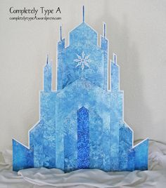 Frozen birthday party idea. How to make Elsa's Ice Castle from Disney's Frozen. Free pattern and tutorial.