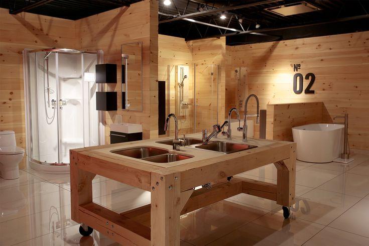 [Salle de montre / Plomberie] Ce qu'il y a de mieux pour la cuisine et la salle de bains: l'actuel, le classique, l'innovateur. Photo Sylvain Plouffe
