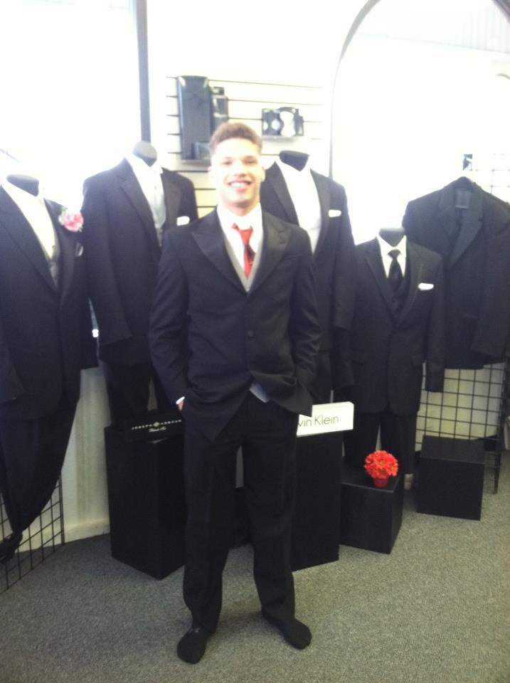 Evan from Puyallup looking amazing in his Tux for PROM.