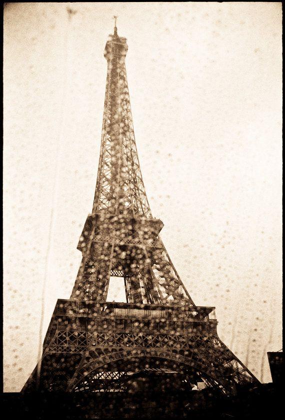 Photograph of the Eiffel Tower Paris seen through by freshdarling, $25.00