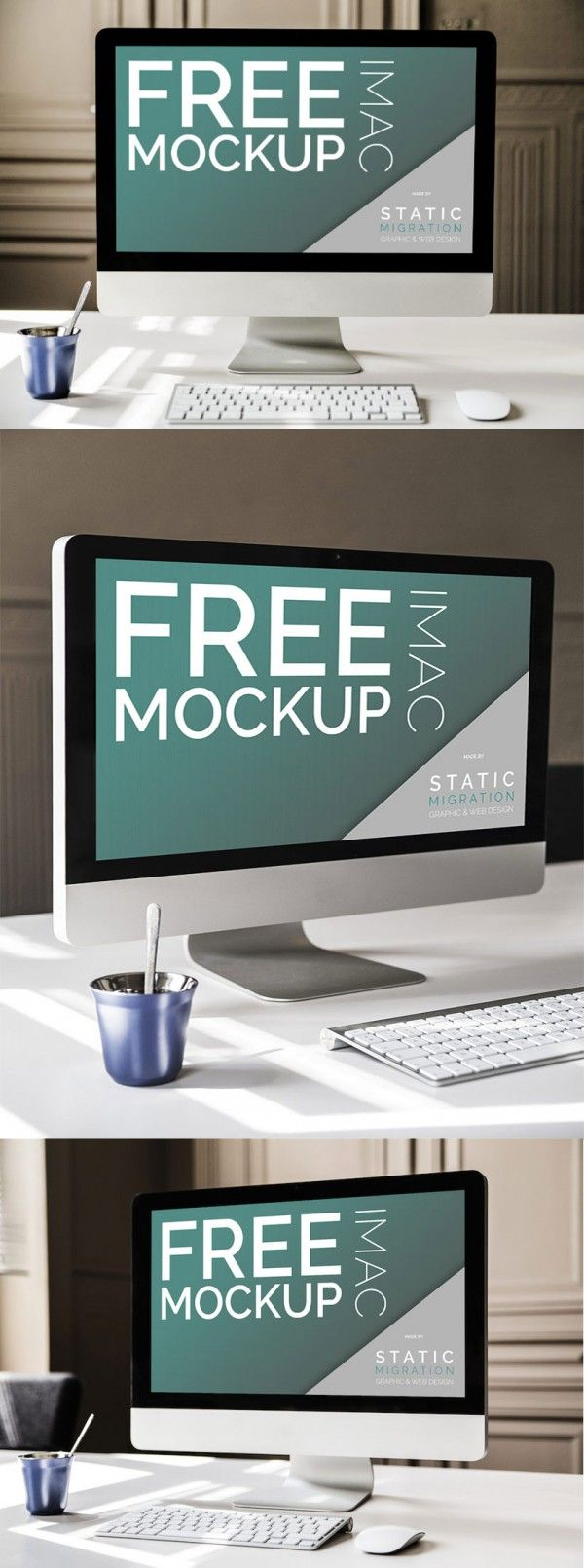 Free Imac Mock ups Psd