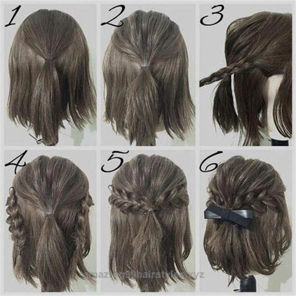 Ordentlich einfach Prom Frisur Tutorials für Mädchen mit kurzen Haaren Die Post einfach Prom ... - #Easy #Girls #Hair #Hairstyle #Neat