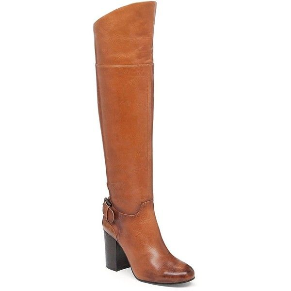 Vince Camuto Sidney Leather Riding Boots ($183) ❤ liked on Polyvore featuring…