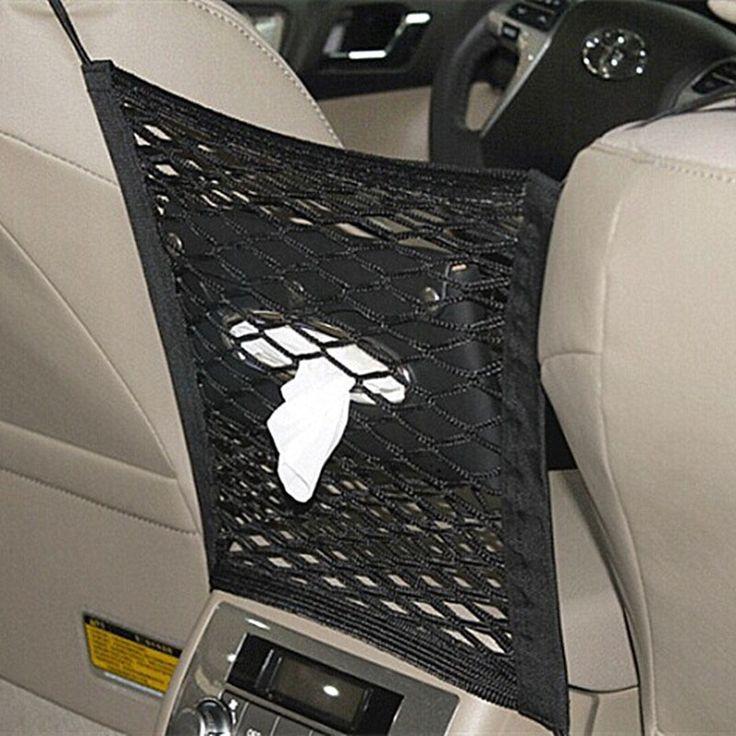 1Pc Car Seat Back Mesh Net Organizer Storage Bag Strong
